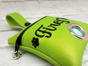 Lime Green Dog Poop Bag Holder