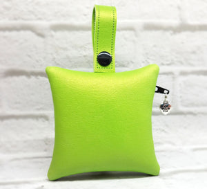 Personalized Dog Poop Bag Holder - Lime Green