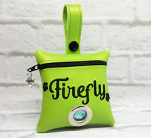 Load image into Gallery viewer, Dog Poop Bag Holder Personalized -Lime Green