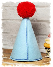 Load image into Gallery viewer, Light Blue Boy Dog Birthday Hat Personalized for 1st Birthday, Gotcha Day