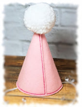 Load image into Gallery viewer, Light Pink Dog Birthday Hat Personalized for Pet's 1st Birthday, Gotcha Day
