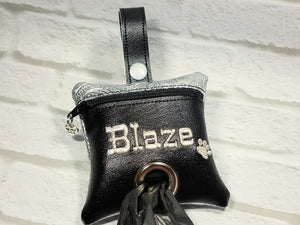 Dog Poop Bag Holder - Black Western - Personalized