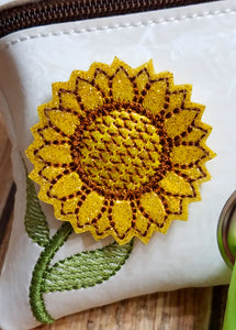 Sunflower Dog Poop Bag Holder - Personalized