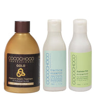 Load image into Gallery viewer, COCOCHOCO Gold Brazilian Keratin 250 ml + Clarifying Shampoo + Sulphate-Free Shampoo 150 ml