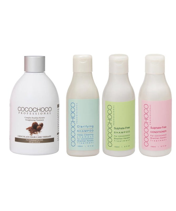 COCOCHOCO Original Brazilian Keratin 250 ml + Clarifying + Sulphate-Free Shampoo + Conditioner 150 ml