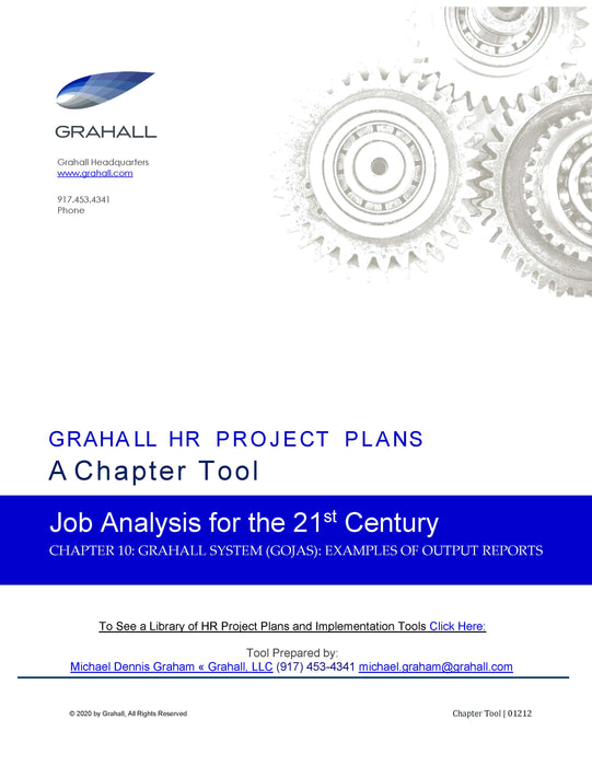 Grahall Online Job Analysis System (GOJAS): Examples of Output Reports