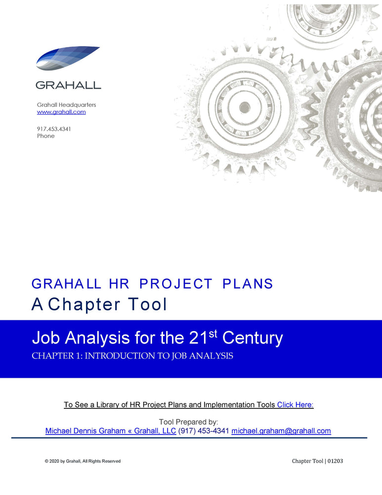 Introduction to Job Analysis
