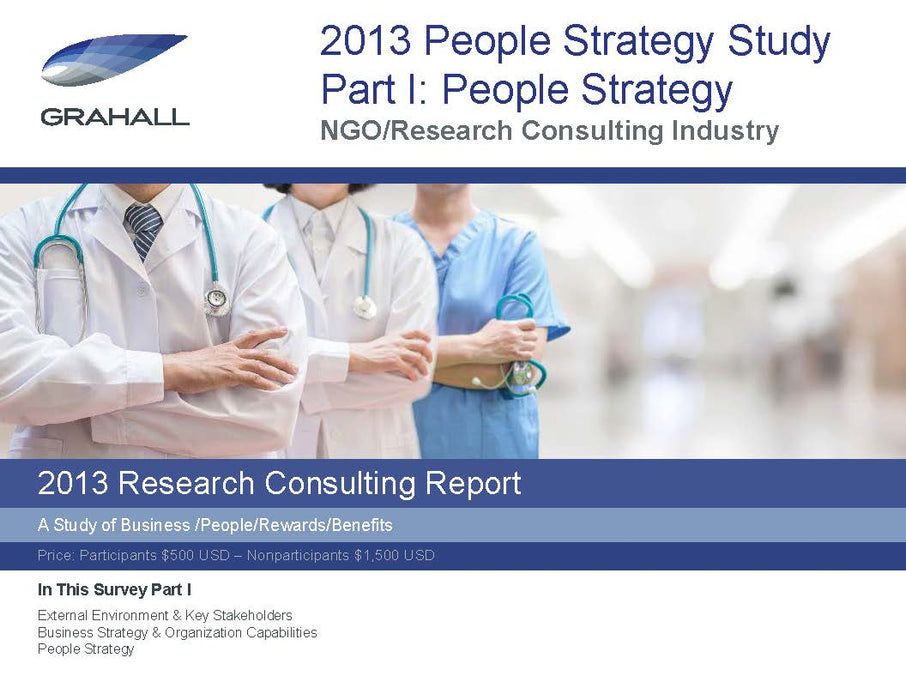 Research Consulting Industry Study Part I: People Strategy