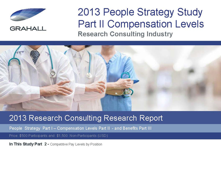 Research Consulting Industry Study Part II: Competitive Pay Levels by Position
