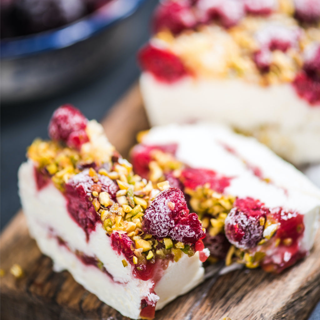 Vermouth and Plum Semifreddo