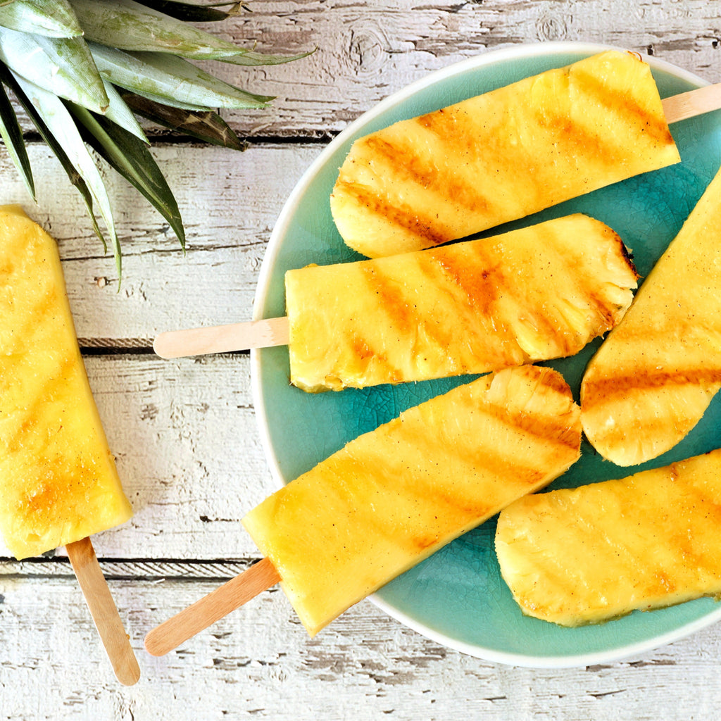 BBQ'd boozy pineapple skewers