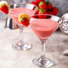 strawberries and cream martini