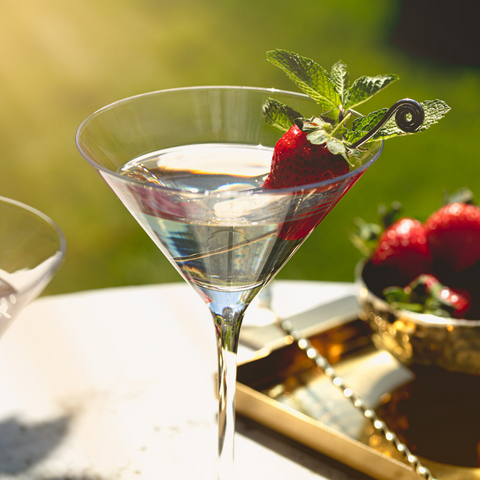 classic martini with strawberry