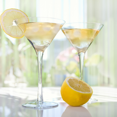 classic martini with lemon twist