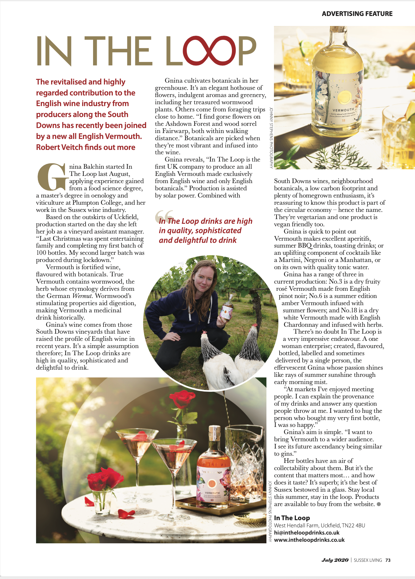 Sussex Living article