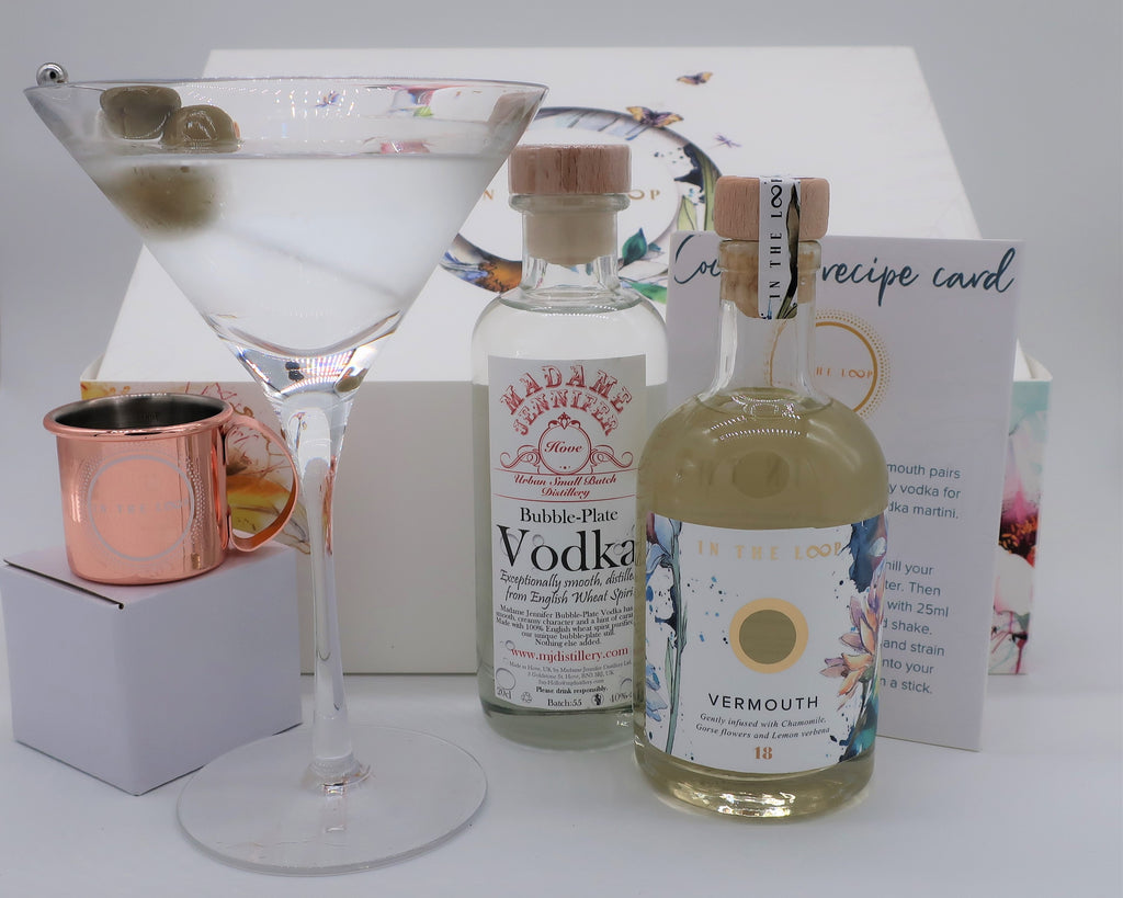 Dirty Vodka Martini Cocktail Box