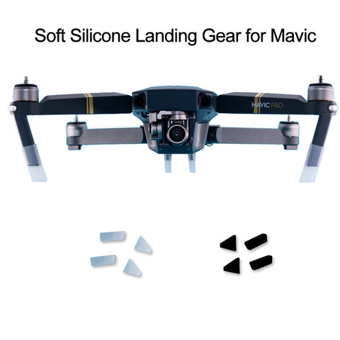 4pcs Soft Silicone Landing Gear Kits For DJI Mavic Pro Platinum Drone Protective Leg Heightened Extender Drone Guard Protector