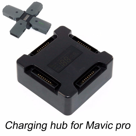 4 in 1 Battery Charging Hub for DJI Mavic Pro Platinum Drone Portable Smart Multi Battery Intelligent Charging Hub With Display