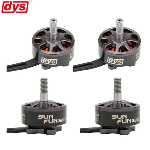 4PCS/LOT DYS SUN FUN 2207 1750KV 2400KV 2750KV CW Thread FPV Racing Brushless Motor For RC Drone Quadcopter Spare Parts