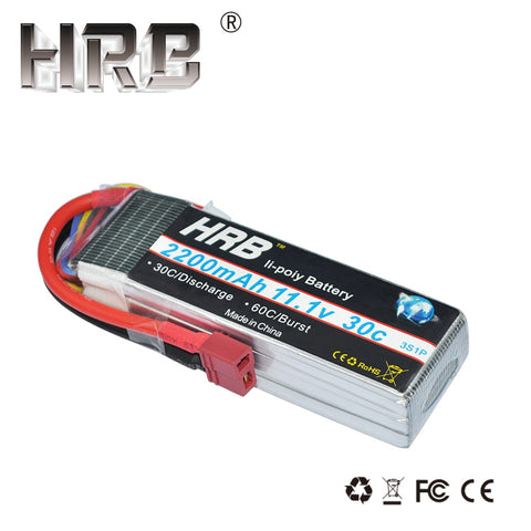 HRB 3S Lipo Battery 11.1V 2200mah 30C RC Parts T XT60 Deans TRX XT90 EC5 JST For Axial SCX10 Airplane FPV Drone Racing Cars Boat