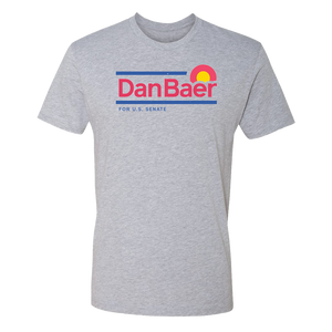 Dan Baer For U.S. Senate T-Shirt (Light Gray)
