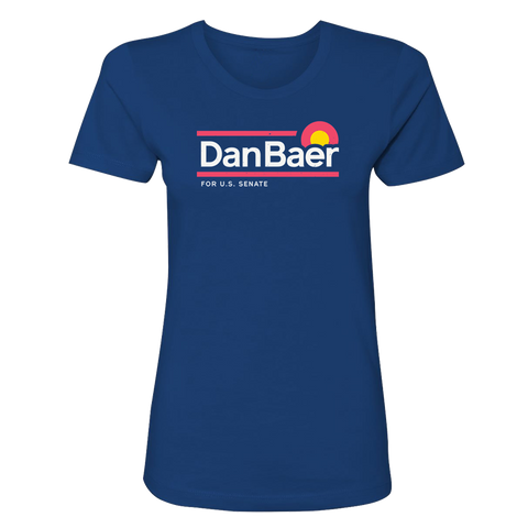 Fitted Dan Baer For U.S. Senate T-Shirt (Royal Blue)