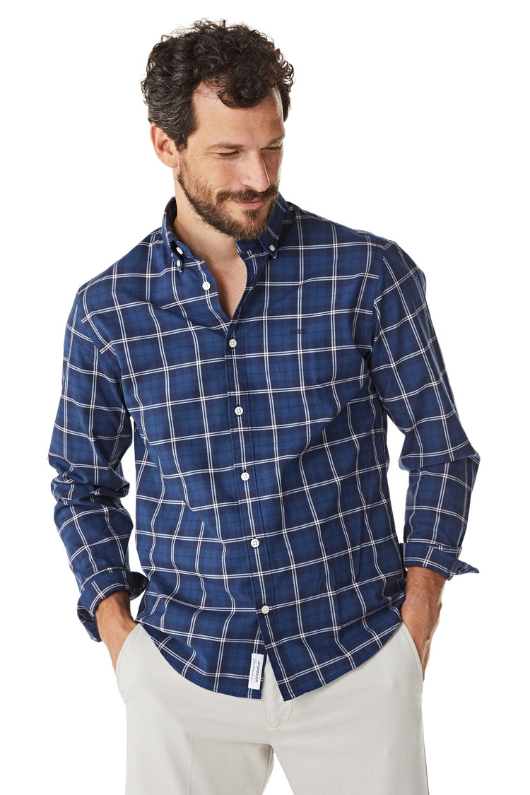 Cotton Shirt with Atlanta Check Regular Fit