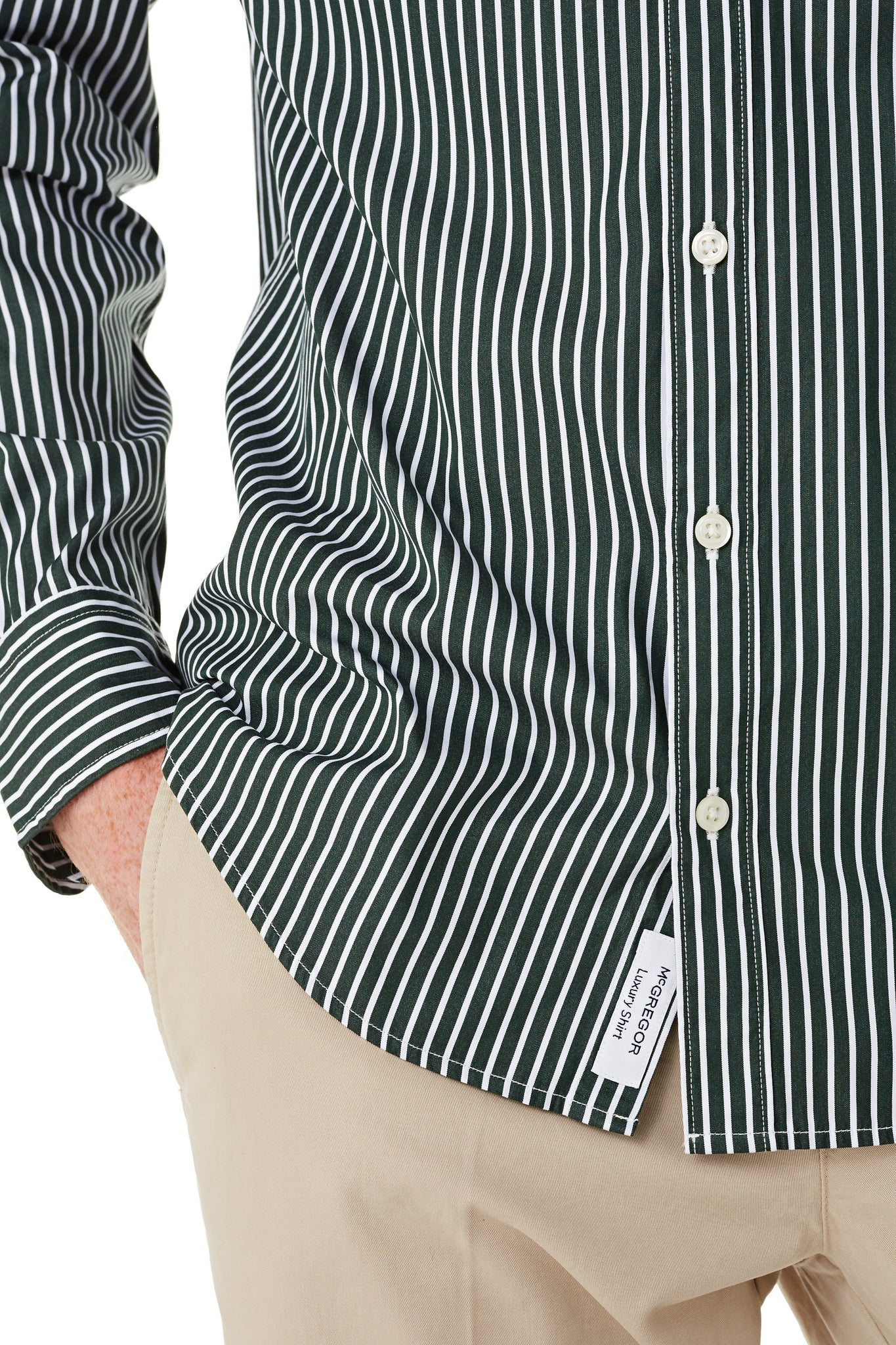 Cotton shirt with Bar Stripe in Regular Fit