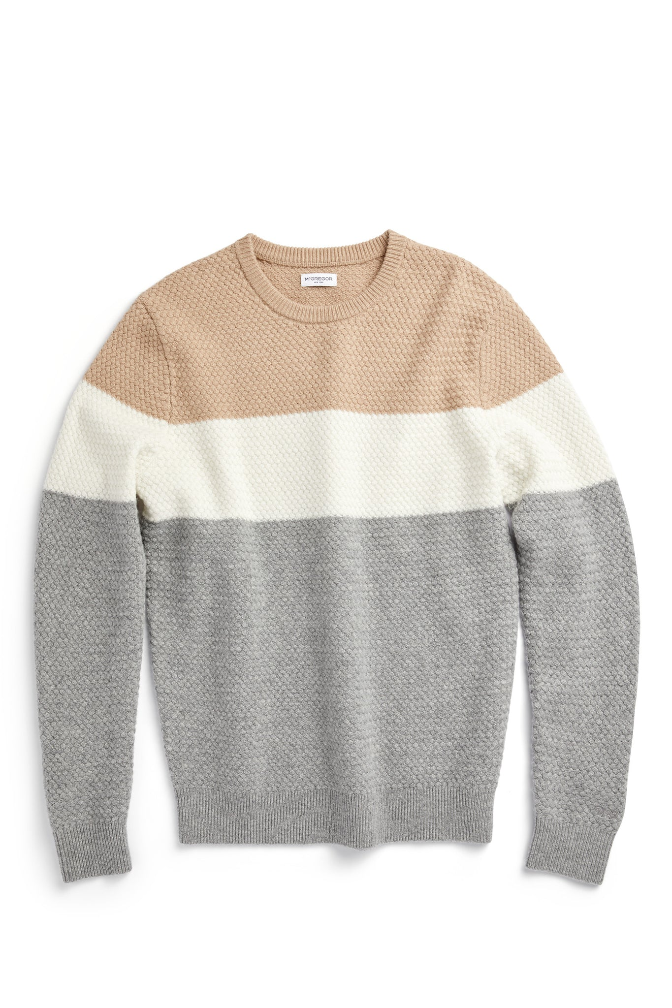 Sweater with basketweave structure