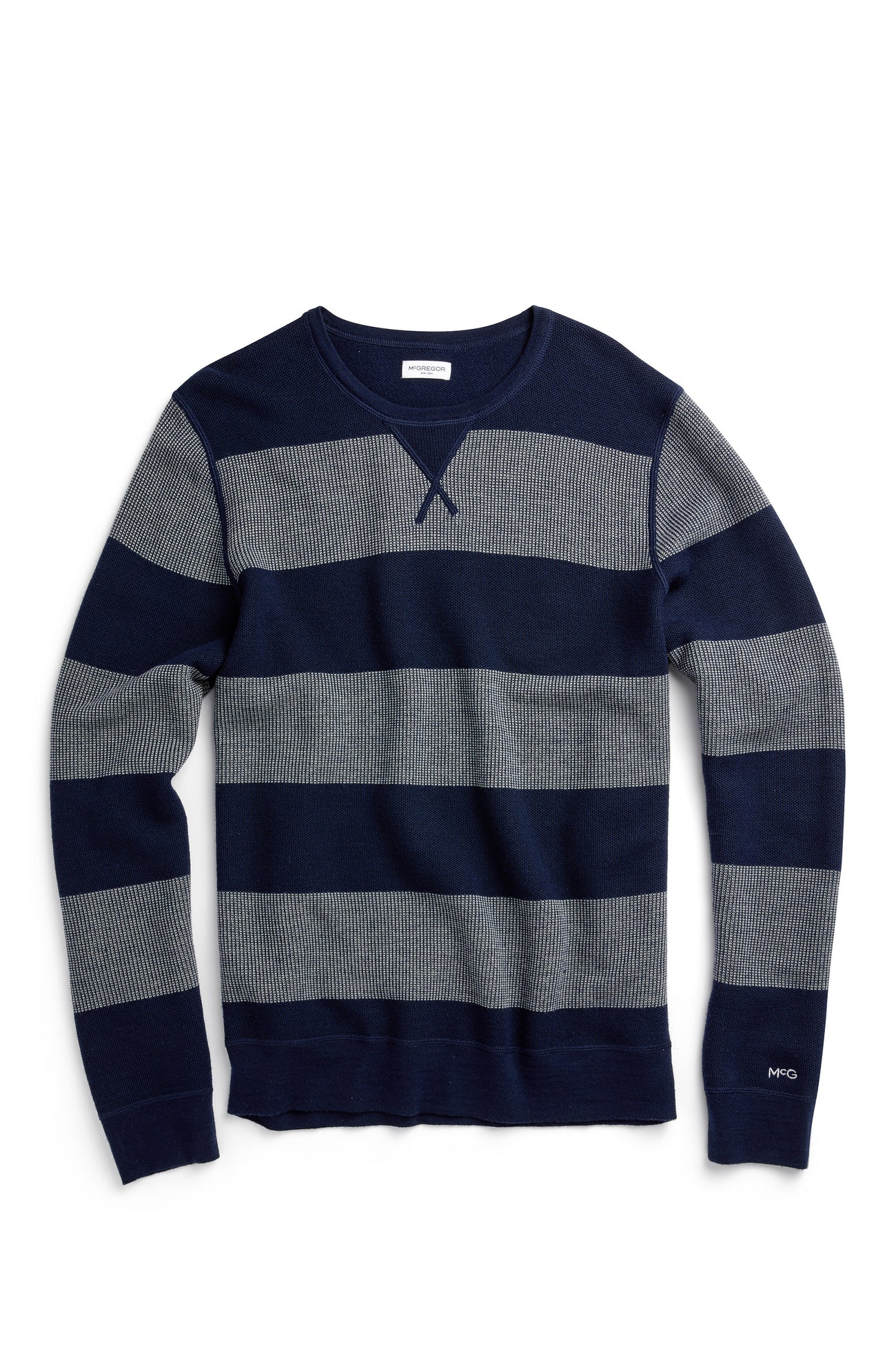 Stripe structure Sweater with Block Stripe