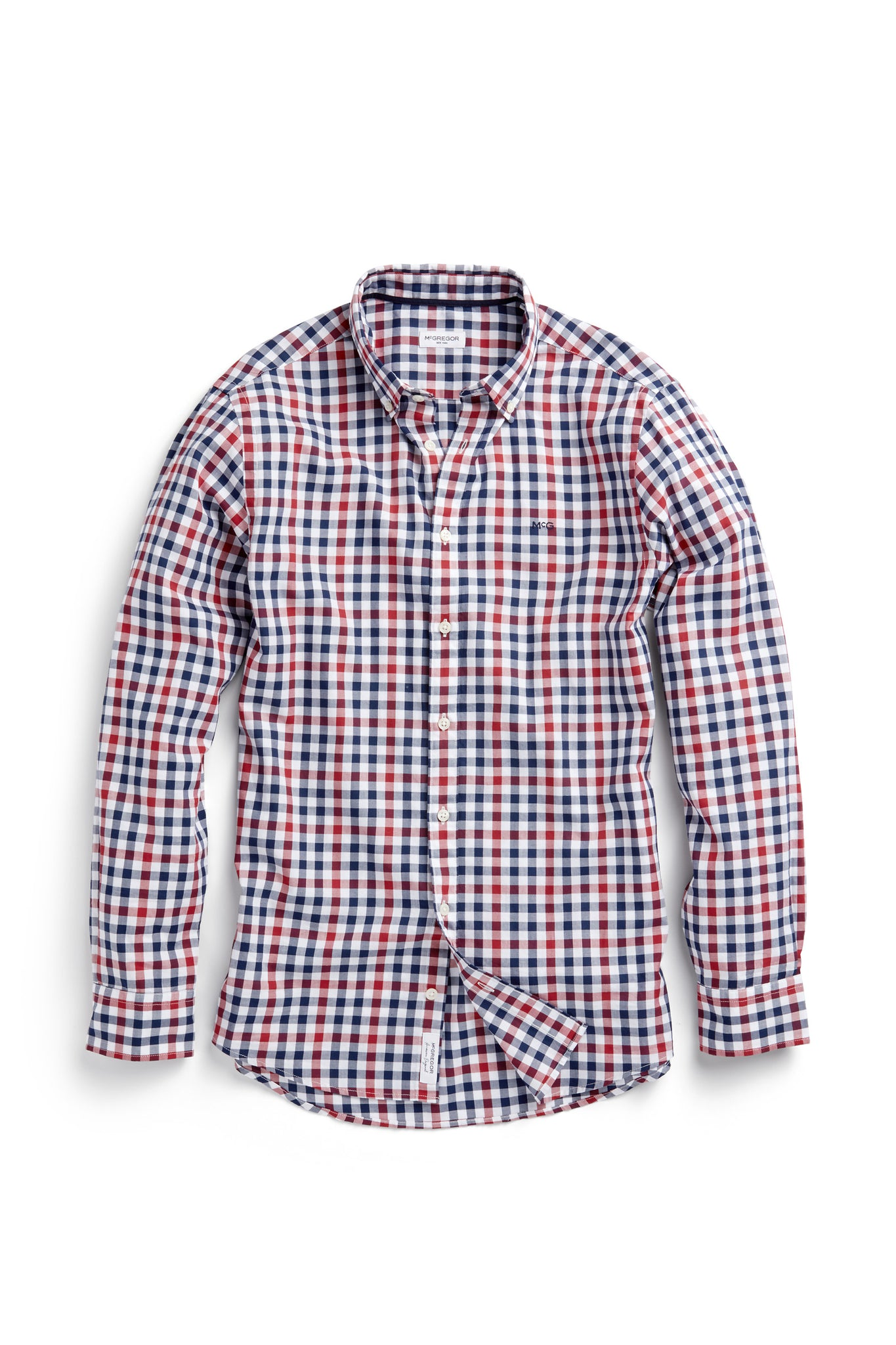 Cotton Shirt with Check Regular Fit