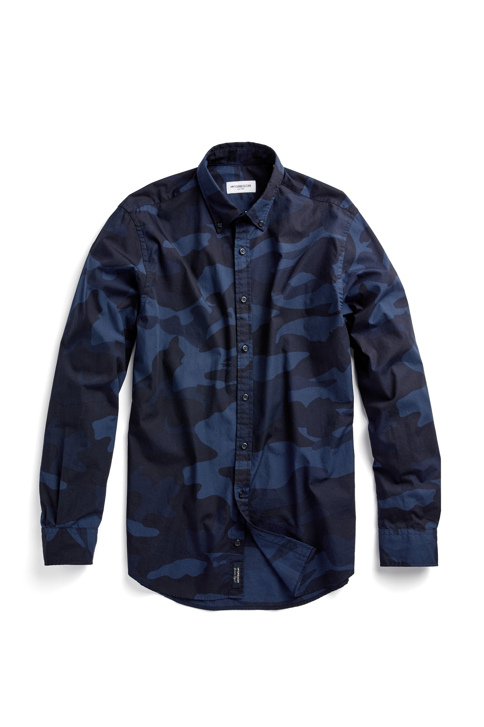 Cotton Shirt in Camouflage Print Regular Fit