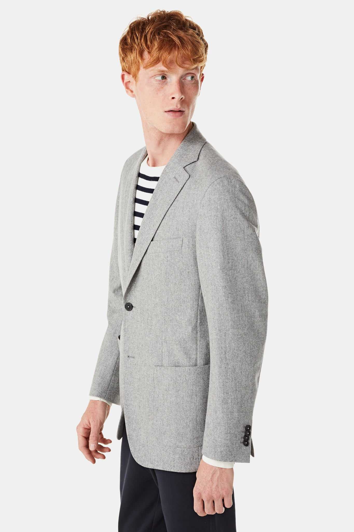 Classic Melange Wool Blazer Regular fit
