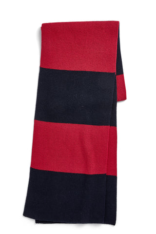 College Scarf in cotton and cashmere blend