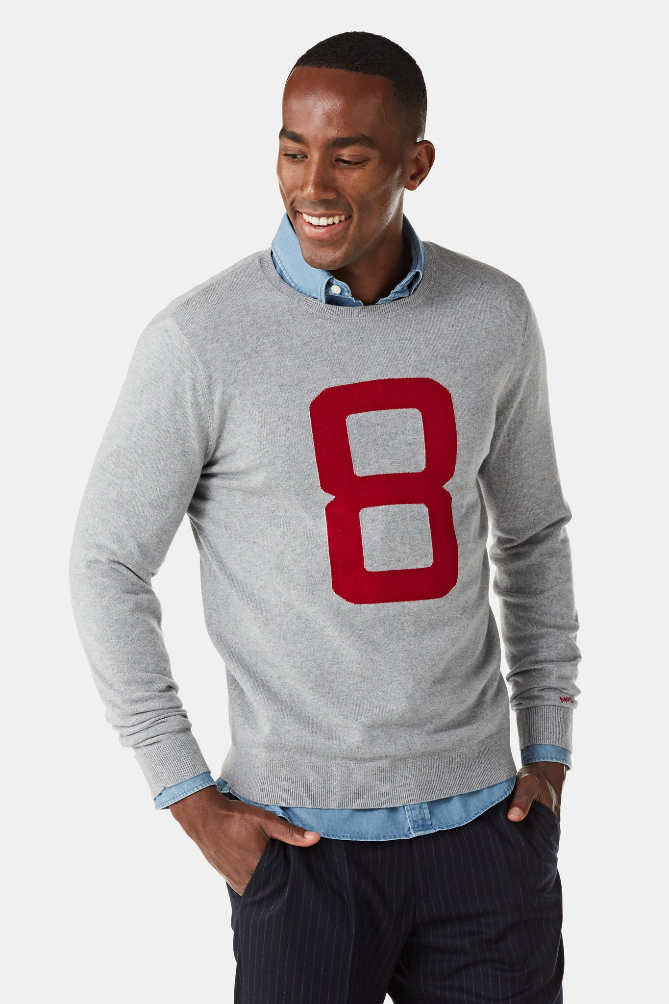 Sweater in Cotton Cashmere with logo