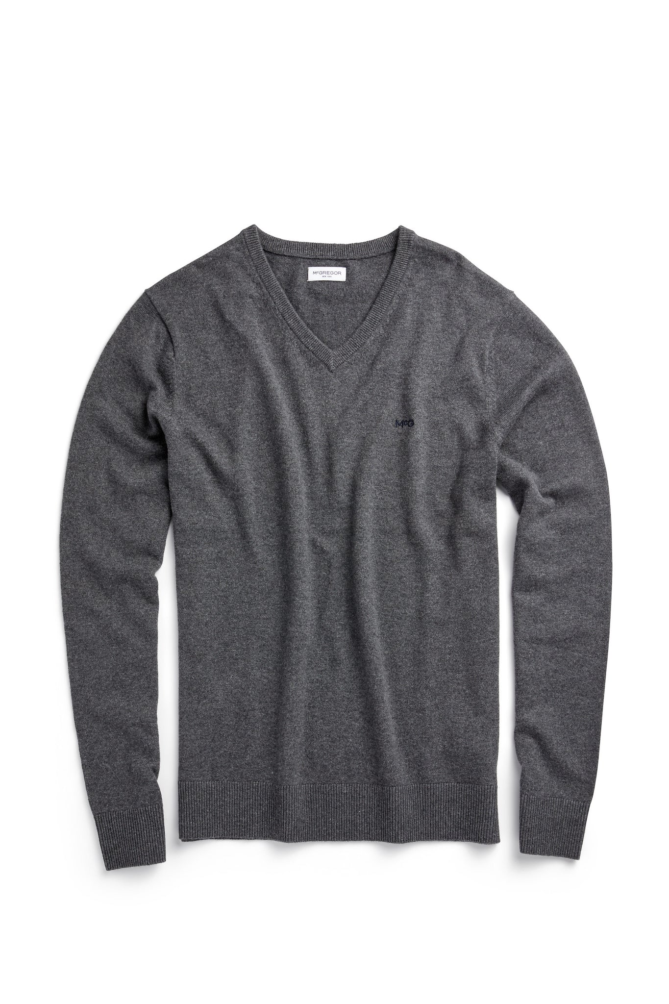 Sweater V Neck in Cotton Cashmere Mix