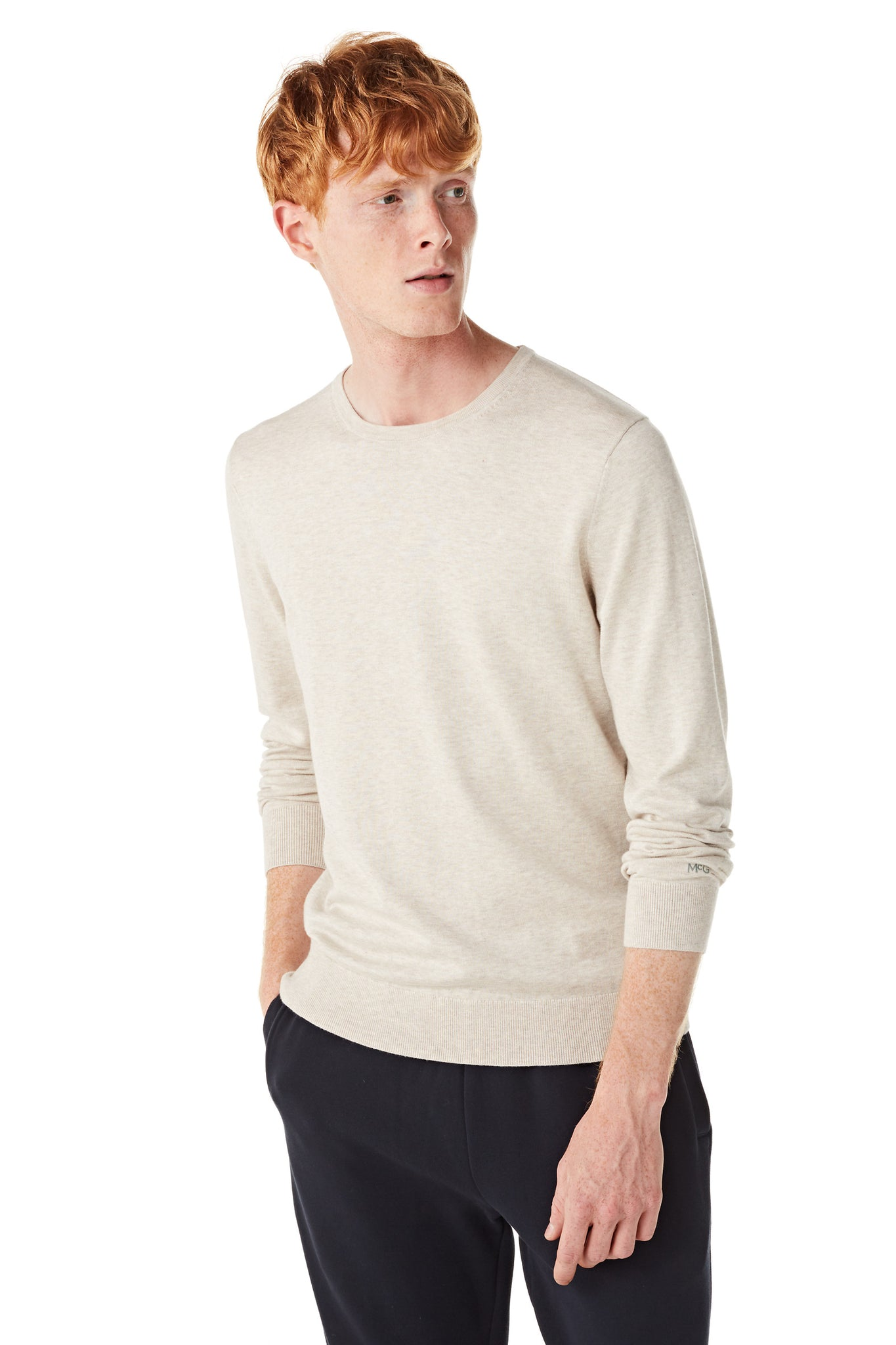 Sweater in Cotton Silk Mix