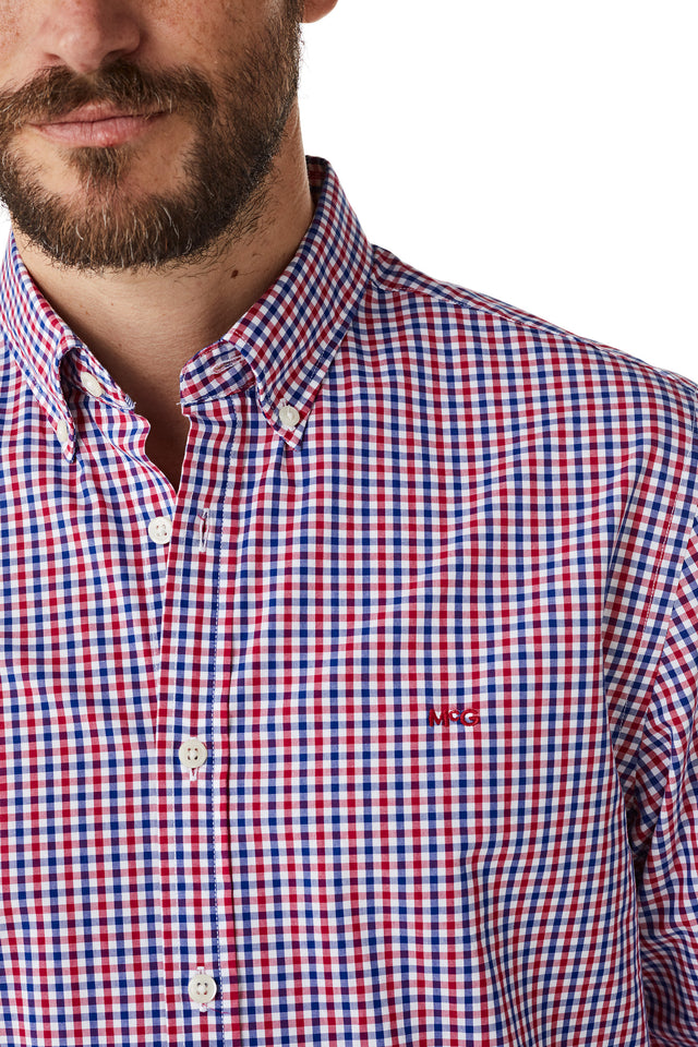 Cotton Shirt in Gingham Check Regular Fit