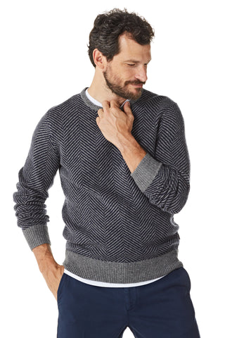 Sweater in Herringbone pattern