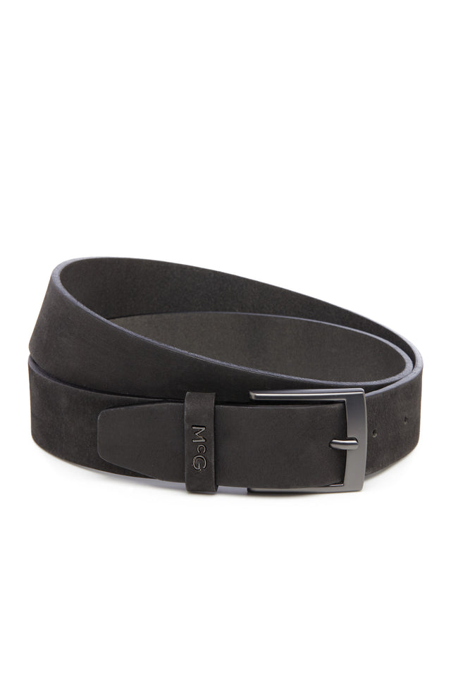 Matt Leather Belt