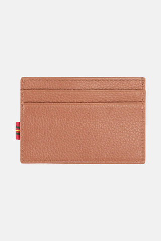 Monogrammed leather credit card holder