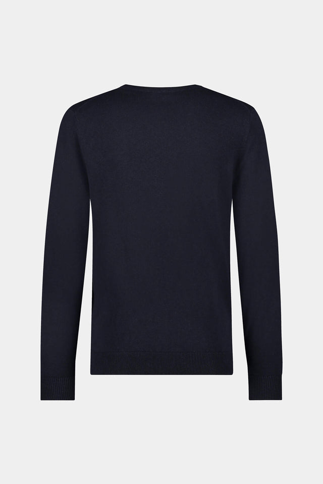 V-neck sweater made of cotton and linen