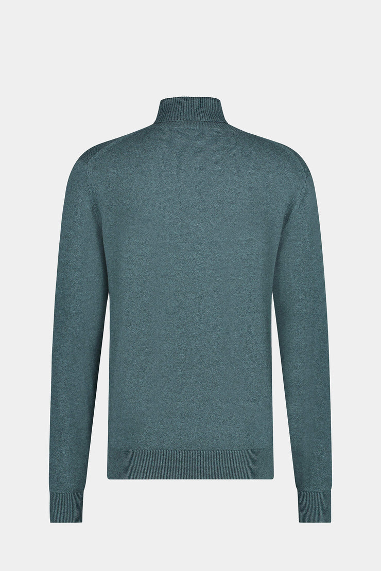 Cotton Wool Roll Neck Sweater