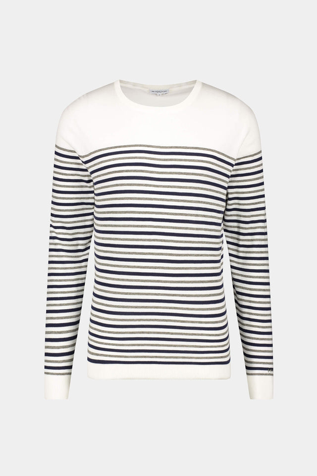 Crewneck sweater Engineered stripes