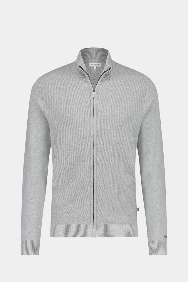 Full Zip Structured Cardigan