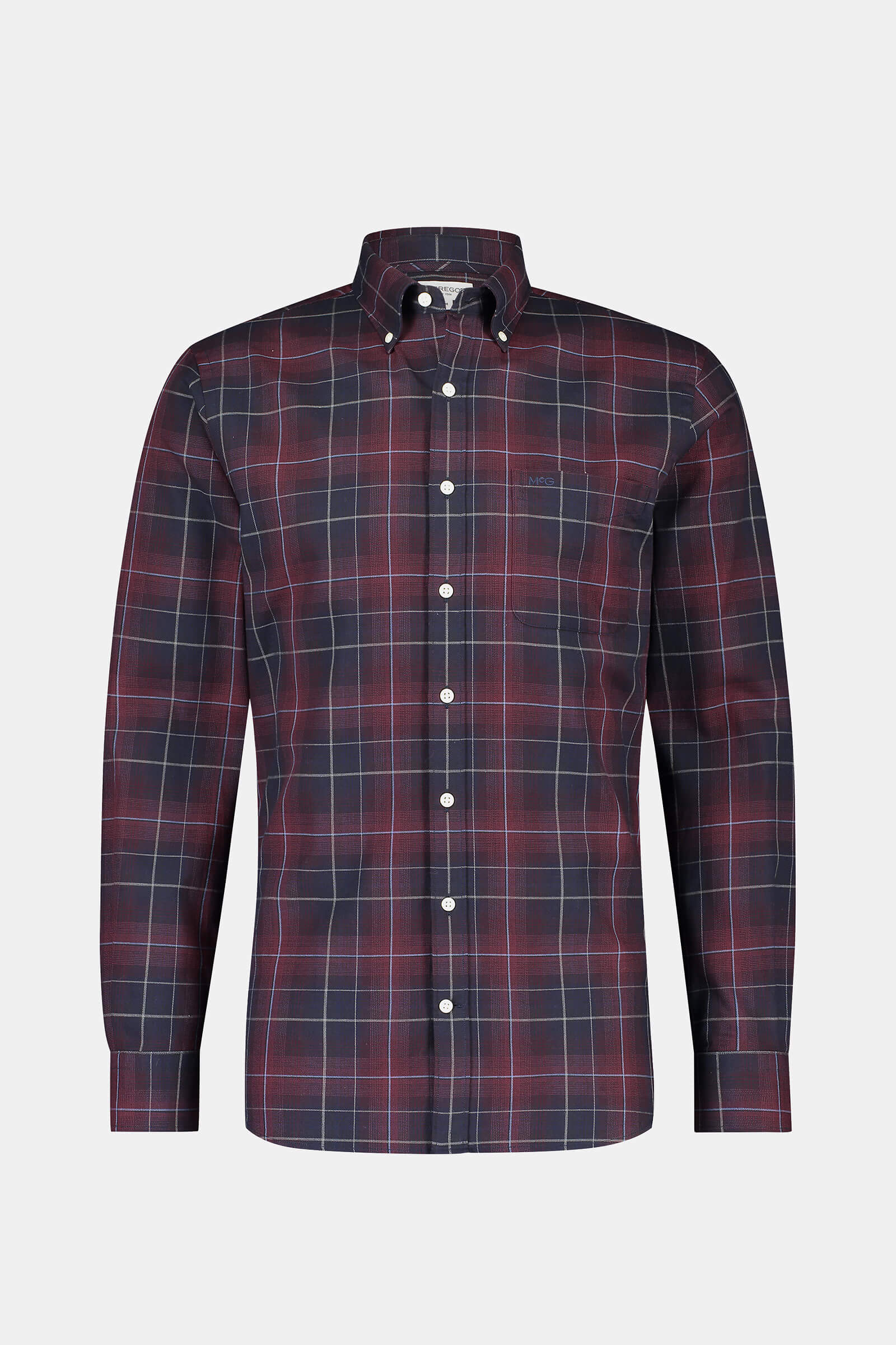 Regular fit Burgundy Check Shirt