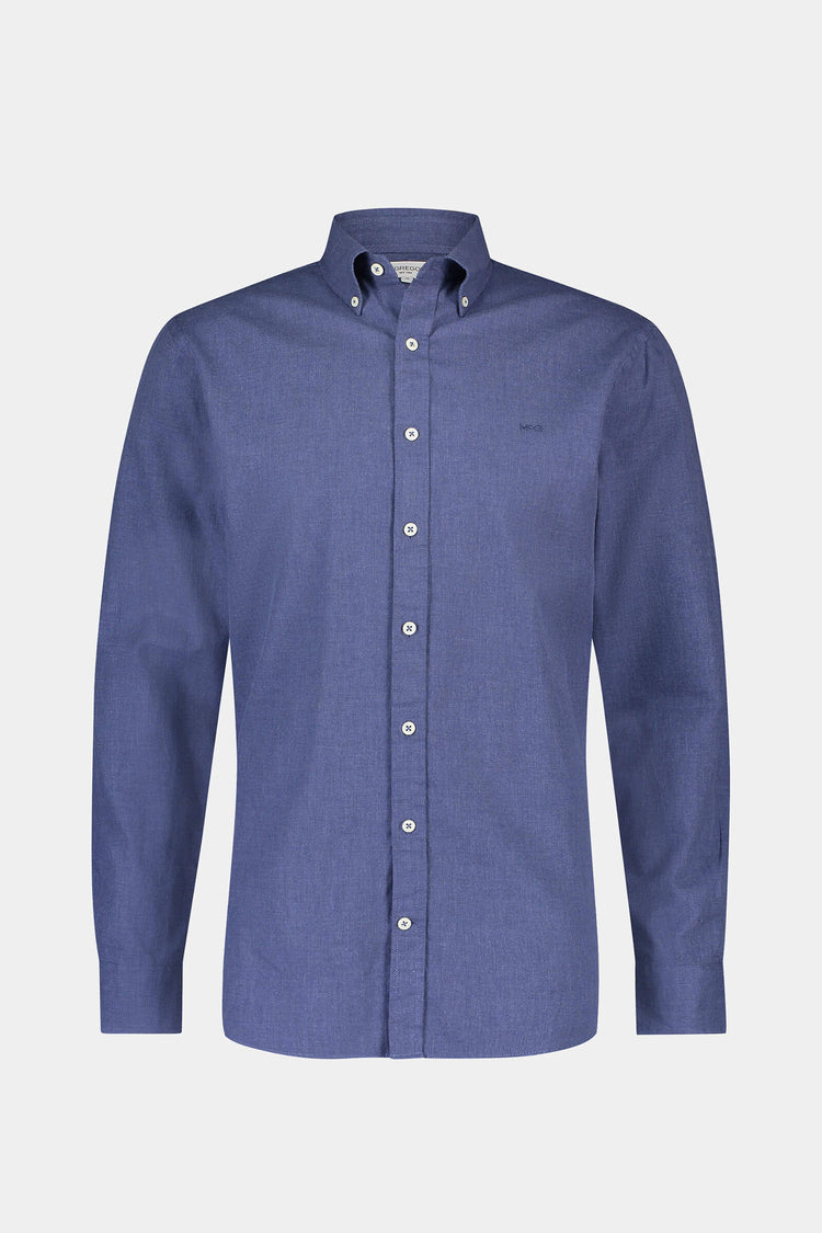 Regular fit chambray flannel shirt