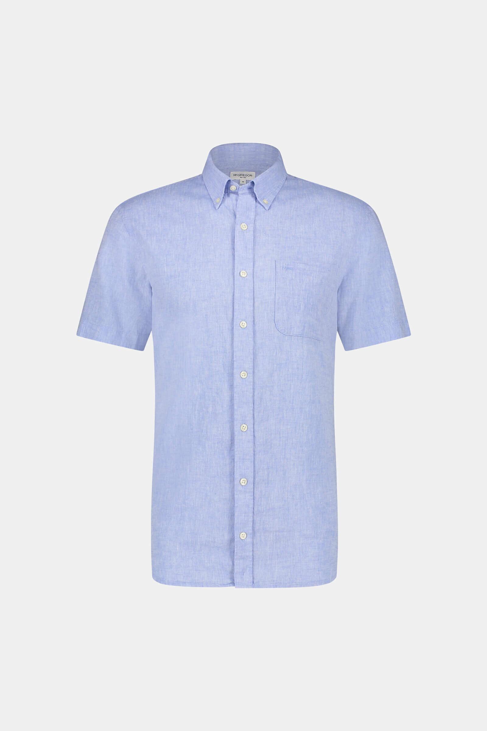 Regular Fit short-sleeved shirt in cotton linen