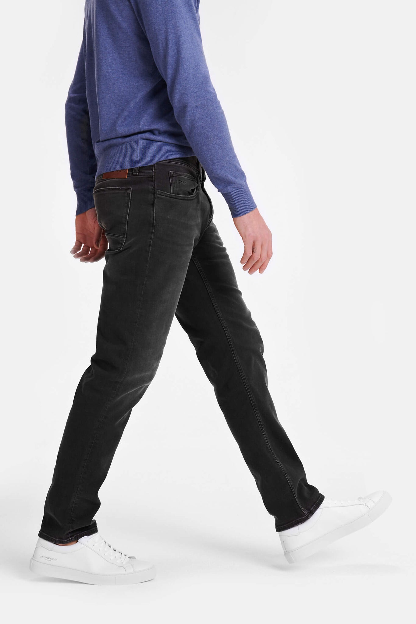 Regular fit jeans in dark grey wash