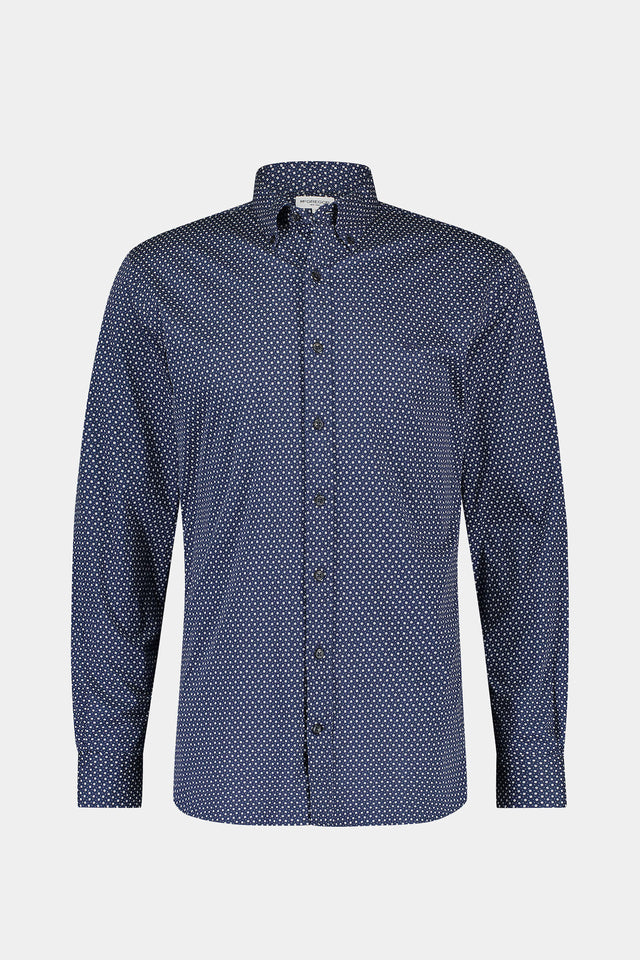 Regular fit jersey mini geo print shirt